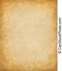 Mottled Vintage Paper - Old vintage paper with stains and a...