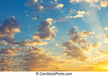 Sky Cloud Background - Sunrise and cloud in sky for...