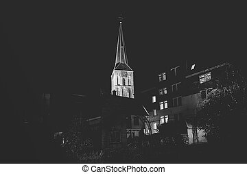 Night pictures of the Historical City of Kampen -...