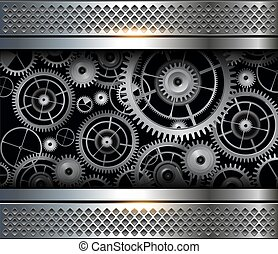 Abstract background gears - Abstract background metallic...