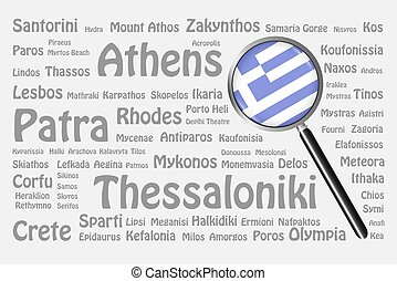 The best travel destinations of Greece Concept - The...