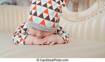 Kid is lying and smiling - Funny Kid is lying and smiling