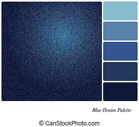 Blue denim palette