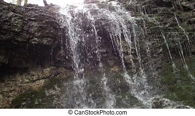 Small waterfall in the woods, (Slovakia - Great Fatra )