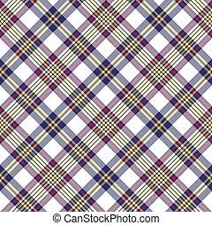 White blue pixel check seamless plaid pattern
