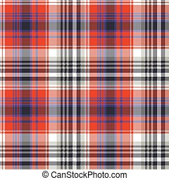 Red check pixel plaid seamless pattern