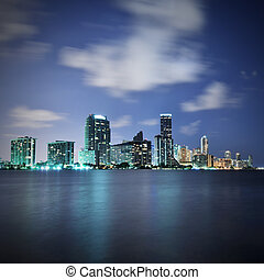 Miami at night - Miami skyline at night