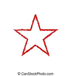 Red blood grunge star. Communism symbol. Authoritarian...