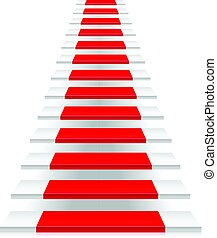 Staircase on a white background.