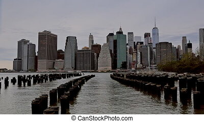 NEW YORK CITY, USA: New York Across the Hudson River. View...