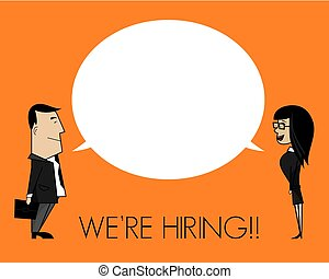 We are hiring concept - Vector illustration of the We are...