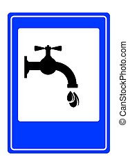 Drinking water sign - Vector illustration of the Drinking...