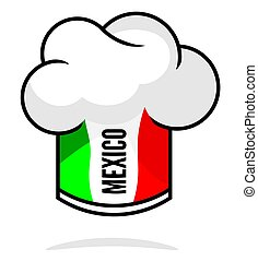Mexican cuisine - Vector illustration of the mexican chef's...