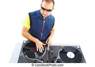 Stylish deejay