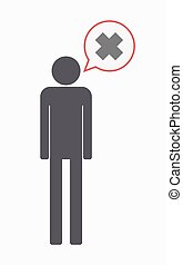 Isolated male pictogram with an irritating substance sign -...