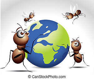 Ant Character - Antic Ant Character, cartoon Illustration