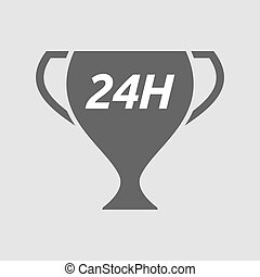 Isolated cup with the text 24H - Illustration of an isolated...