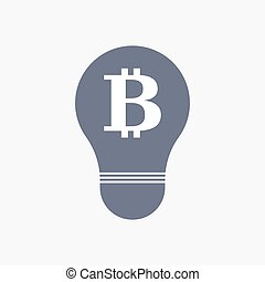 Isolated light bulb icon with a bit coin sign