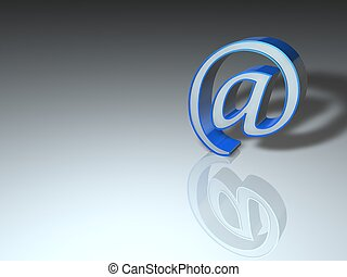 image of Internet symbol @