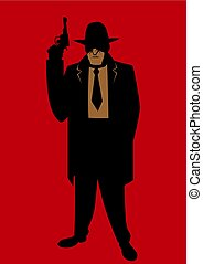 Gangster - Cartoon illustration of gangster from the...