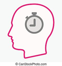 Isolated  head with a timer