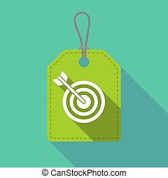 Long shadow product label with a dart board - Illustration...