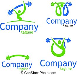 Weightlifter logo - Weightlifter vector logo. Brand logo in...
