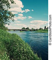 Ken River Valley.Arkhangelsk region, Russia