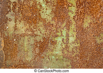The vintag rusty grunge iron textured background