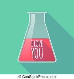 Long shadow tube with the text I LOVE YOU - Illustration of...