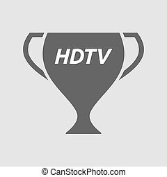 Isolated cup with the text HDTV - Illustration of an...