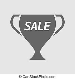 Isolated cup with    the text SALE