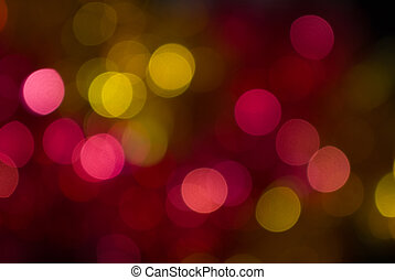 Abstract christmas lights as background - The colored...