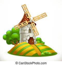 Mill. 3d vector icon