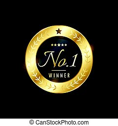 No. 1 winner golden label design for your brand