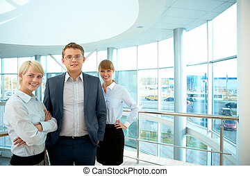 Successful business team - Portrait of smart business people...