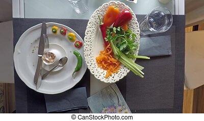 Couple enjoying healthy breakfast - Couple enjoying...