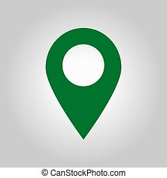 Location sign symbol. - Map pointer icon. GPS location sign....