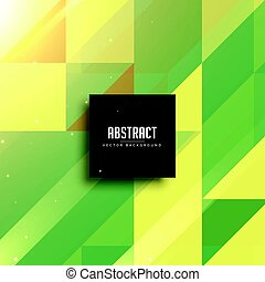 abstract green geometric triangles background design