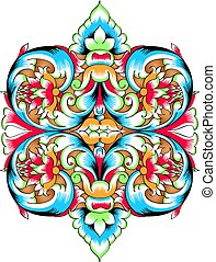 Orthodoxy pattern - Fragment of drawing orthodoxy pattern,...