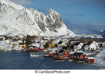 Reine, Lofoten, Norway - The village Reine at the Lofoten,...