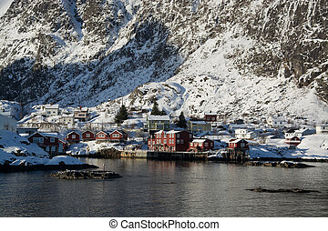 Village A, Lofoten, Norway - The village A at the Lofoten,...
