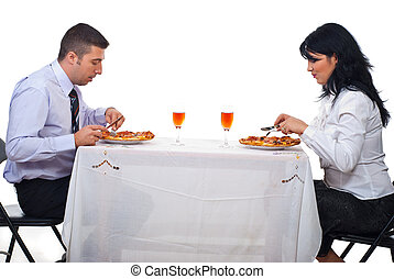 Business people having lunch - Two business people having...