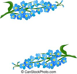 Forget me not frame - vector forget me not frame