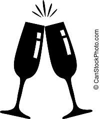 Champagne glasses - vector glasses