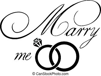 Vector Marry Me Card - vector illustration of a marry me...