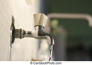 Water tap in retro vintage style
