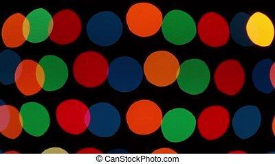 Color defocused lights