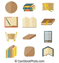 Books icons document magazine publication typography...