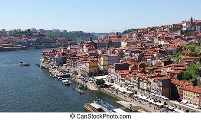 Porto city at bright sunny day